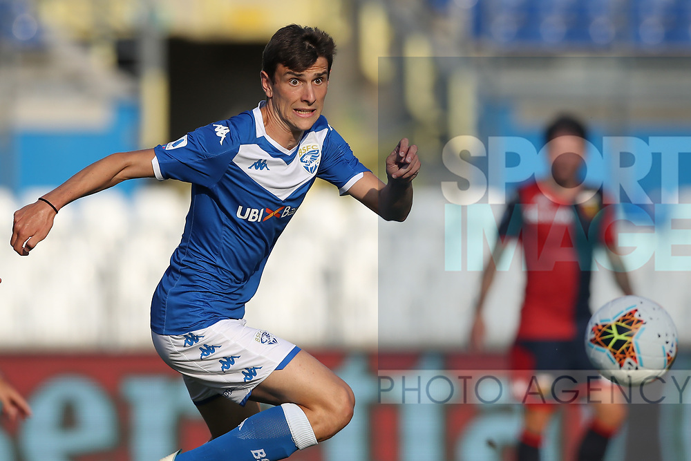 Brescia Calcio's Italian midfielder Andrea Ghezzi during the Serie A match at Stadio Mario Rigamonti, Brecsia. Picture date: 27th June 2020. Picture credit should read: Jonathan Moscrop/Sportimage