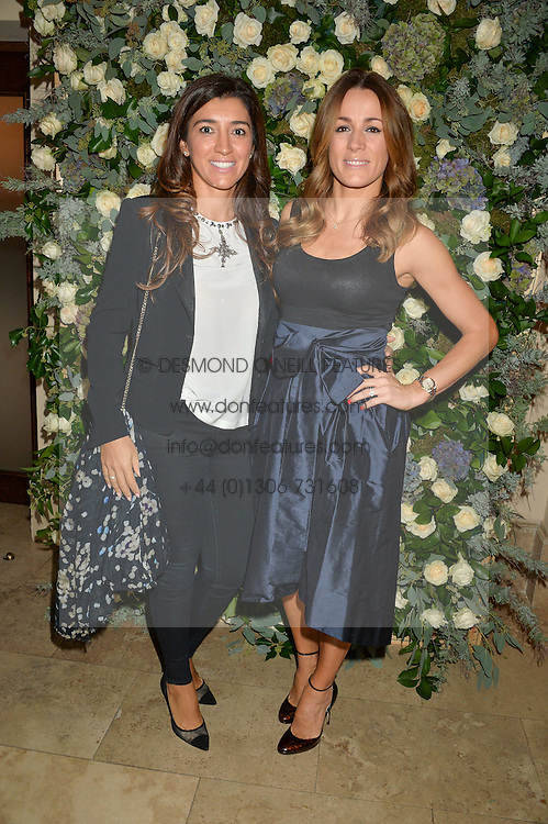 Left to right, FABIANA ECCLESTONE and NATALIE PINKHAM at a private view of the Beulah Winter Autumn Winter collection entitled 'Chrysalis' held at The South Kensington Club, London SW7 on 24th September 2015.