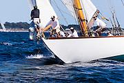 Spartan sailing in the Newport Classic Yacht Regatta.