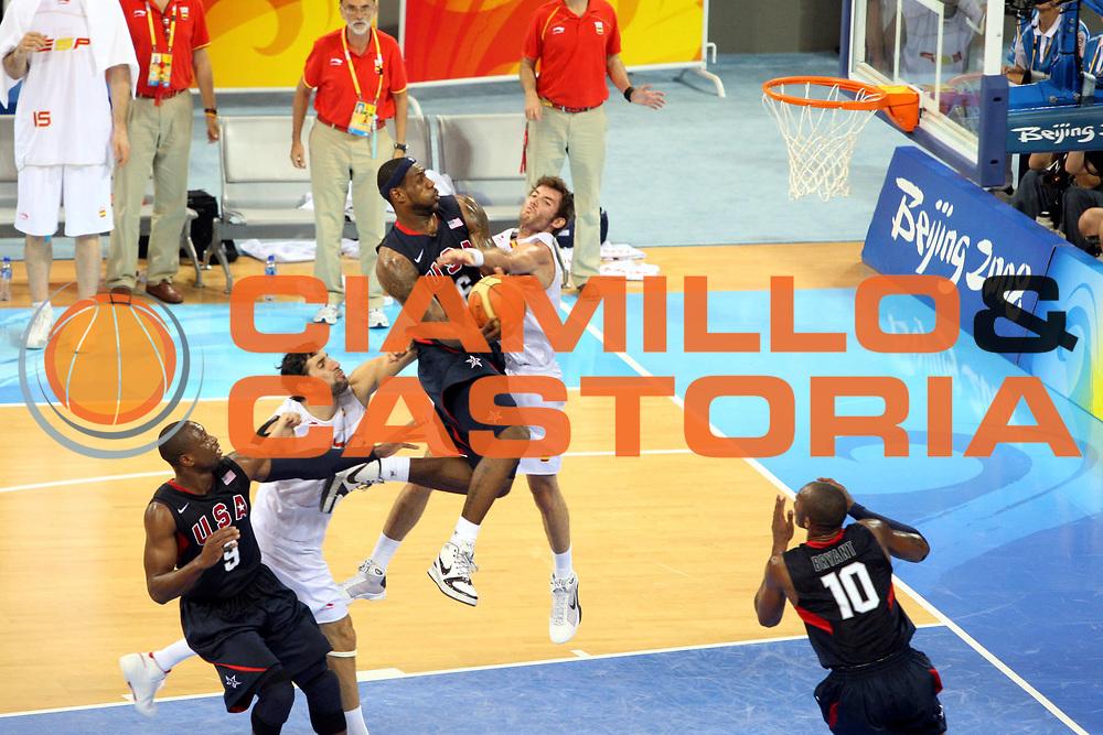 DESCRIZIONE : Beijing Pechino Olympic Games Olimpiadi 2008 Final Gold Medal 1-2 posto place Spain Usa<br />GIOCATORE : Lebron James<br />SQUADRA : Usa<br />EVENTO : Olympic Games Olimpiadi 2008<br />GARA : Spagna Usa<br />DATA : 24/08/2008 <br />CATEGORIA : Tiro<br />SPORT : Pallacanestro <br />AUTORE : Agenzia Ciamillo-Castoria/G.Ciamillo<br />Galleria : Beijing Pechino Olympic Games Olimpiadi 2008 <br />Fotonotizia : Beijing Pechino Olympic Games Olimpiadi 2008 Final Gold Medal 1-2 posto place Spain Usa<br />Predefinita :