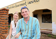 ANGELA AND JOHN WILMOT OUTSIDE TOTAL LIFE CARE IN MANGOCHI MALAWI SOUTH EASTERN AFRICA.24.11.06.PIX STEVE BUTLER