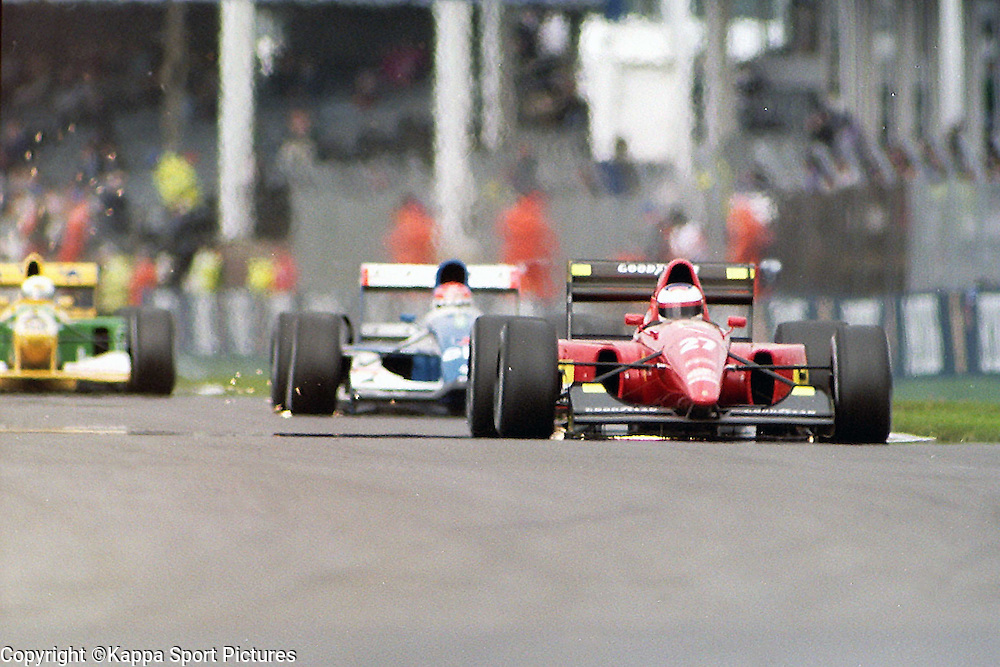 Ivan Capelli, Italian, Scuderia Ferrari, British Formula One Grand Prix, Silverstone, July 1990British Formula One, Practice Grand Prix, Sllverstone, 12th July 1992