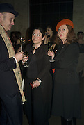 Simon Hamnell, Gill Hicks and Berni Hamnell, 130 Years Of Veuve Clicquot Yellow, The Wapping Project, Wapping Wall, London, E1,13 November 2007. -DO NOT ARCHIVE-© Copyright Photograph by Dafydd Jones. 248 Clapham Rd. London SW9 0PZ. Tel 0207 820 0771. www.dafjones.com.
