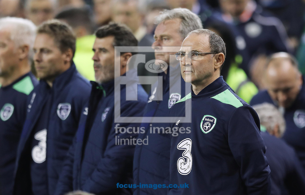 Martin O'Neillof Republic of Ireland during the 2018 FIFA World Cup Qualifying match at the Aviva Stadium, Dublin<br /> Picture by Lorraine O'Sullivan/Focus Images Ltd +353 872341584<br /> 06/10/2016