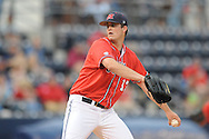 Mississippi's Drew Pomeranz pitches vs. Arkansas in a college baseball game at Oxford-University Stadium in Oxford, Miss. on Friday, May 7, 2010. (AP Photo/Oxford Eagle, Bruce Newman)