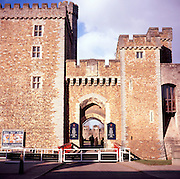 Entrance to Cardiff castle, Wales