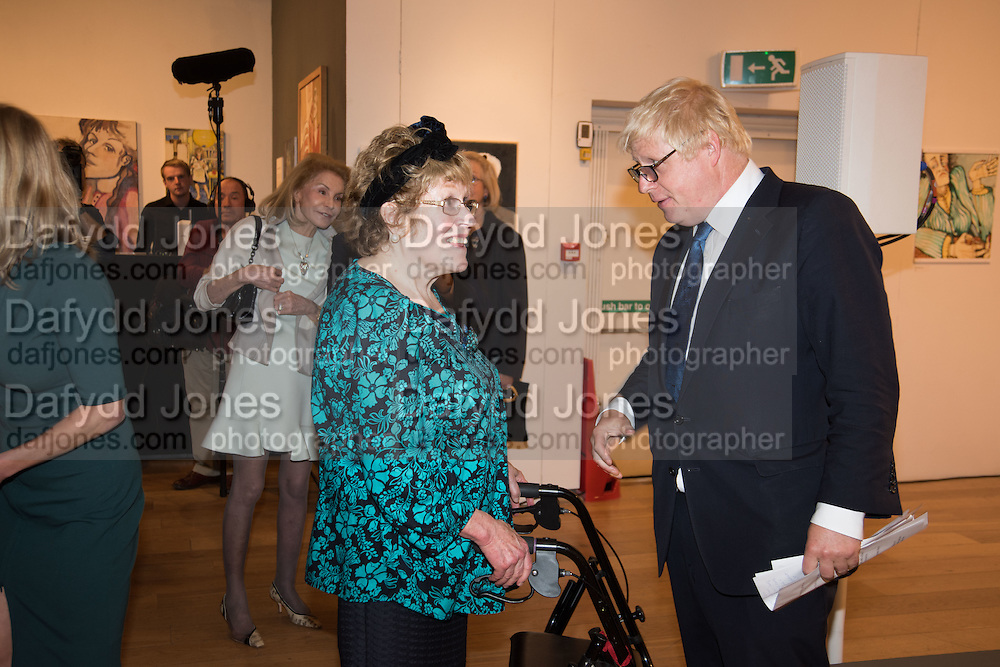 CHARLOTTE JOHNSON WAHL; BORIS JOHNSON Exhibition opening of paintings by Charlotte Johnson Wahl. Mall Galleries. London, 7 September 2015.