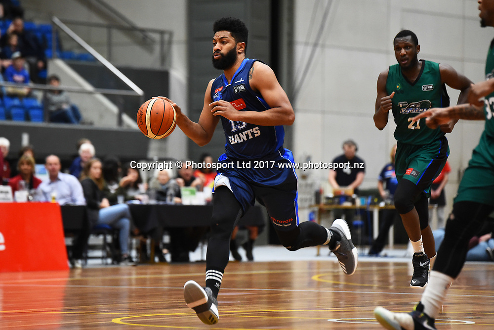 Giants player Dion Prewster during their NBL Basketball game Nelson Giants v Supercity Rangers. Trafalgar Centre, Nelson, New Zealand. Sunday 4 June 2017. ©Copyright Photo: Chris Symes / www.photosport.nz