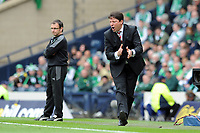 Fotball<br /> Skottland<br /> Foto: Colorsport/Digitalsport<br /> NORWAY ONLY<br /> <br /> 19.05.2012<br /> Football - Scottish FA Cup Final - Hibernian vs. Hearts<br /> Paulo Sergio (Hearts manager) at Hampden Park.