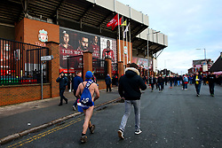 Everton fan 'Speedo Mick' arrives at Anfield for the Merseyside Derby against Liverpool - Mandatory by-line: Robbie Stephenson/JMP - 02/12/2018 - FOOTBALL - Anfield - Liverpool, England - Liverpool v Everton - Premier League