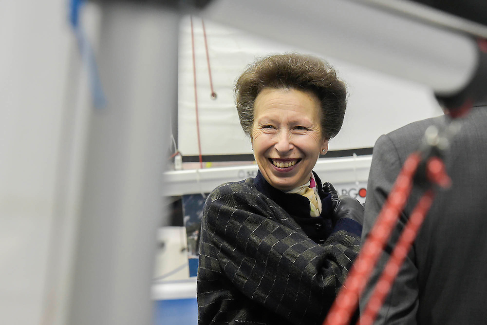 Here on the Toper stand. HRH Princess Anne attend the show with her husband.  They make a tour of the show which includes awarding the Yachtmaster of the Year award, on the RYA stand, as well as meeting Sir Ben Ainslie, on his BAR stand. The CWM FX London Boat Show, taking place 09-18 January 2015 at the ExCel Centre, Docklands, London. 09 Jan 2015.
