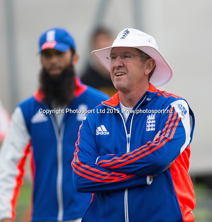 Head coach Trevor Bayliss during net practice prior to the 2nd Investec Test Match at Lord's Cricket Ground, London. Photo: Graham Morris (Tel: +44(0)20 8969 4192 Email: sales@cricketpix.com) 14/07/15