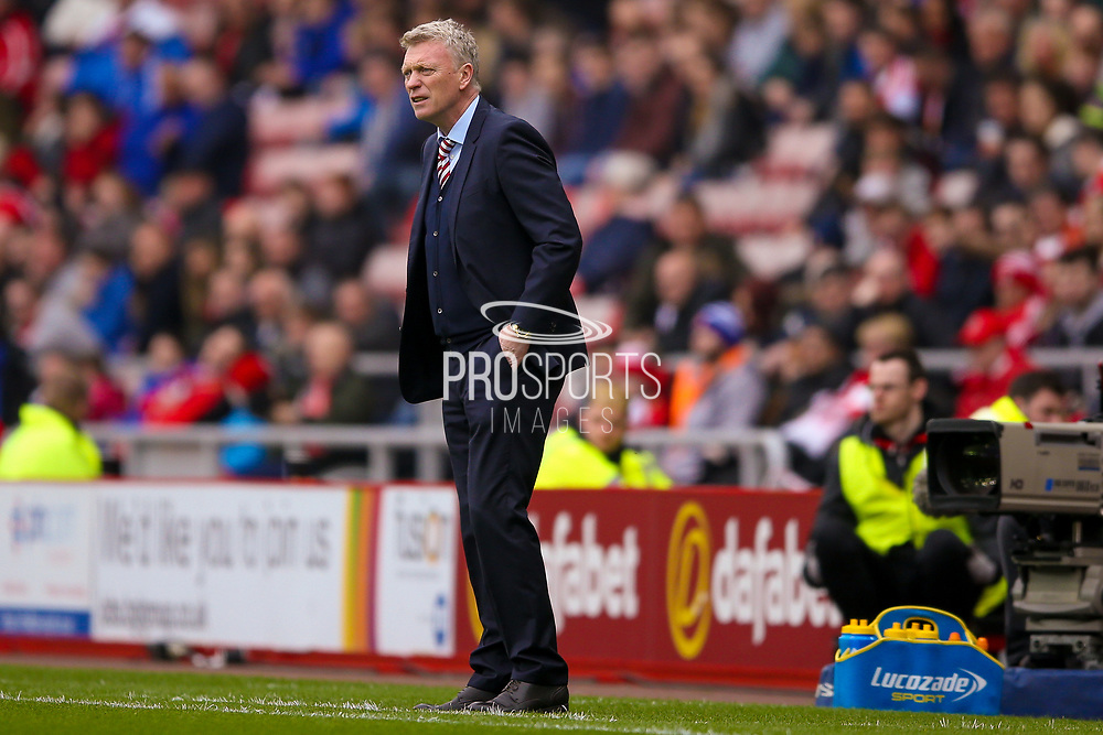 Sunderland Manager David Moyes  during the Premier League match between Sunderland and Bournemouth at the Stadium Of Light, Sunderland, England on 29 April 2017. Photo by Simon Davies.