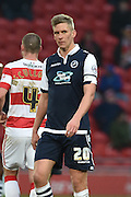 Steve Morison of Millwall FC during the Sky Bet League 1 match between Doncaster Rovers and Millwall at the Keepmoat Stadium, Doncaster, England on 27 February 2016. Photo by Ian Lyall.