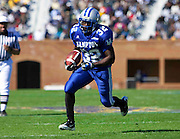 "Hampton University freshman Antwon Chisholm scored on this 7 yard run during their 7 - 6 victory over Norfolk State in ""The Battle of the Bay"" held at Armstrong Stadium on the campus of  Hampton University in Hampton, Virginia.  (Photo by Mark W. Sutton)"