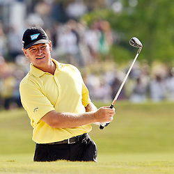 Apr 29, 2012; Avondale, LA, USA; Ernie Els on the second playoff at the 18th hole during the final round of the Zurich Classic of New Orleans at TPC Louisiana. Mandatory Credit: Derick E. Hingle-US PRESSWIRE