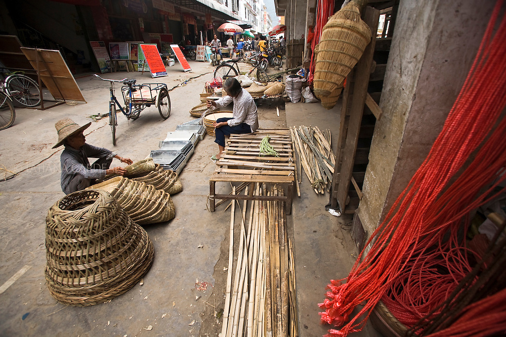 Market at Fuli Town, Guangxi Zhuang Autonomous Region, China.