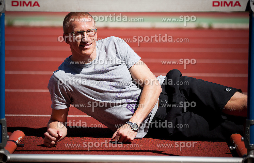Athlete Matic Osovnikar, Slovenian sprinter after he retired and is going to enjoy his new career as a dentist, on July 31, 2012 in ZAK stadium, Ljubljana, Slovenia. (Photo by Vid Ponikvar / Sportida.com)