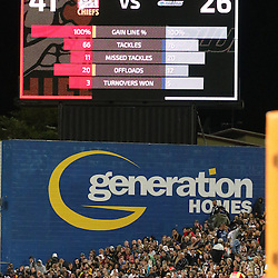 Final Score during the Battle of the Bombays during the Investec Super  Rugby match between the Chiefs and Blues at FMG Waikato Stadium in Hamilton, New Zealand on Friday 3 March 2017. Photo: Dion Mellow / lintottphoto.co.nz