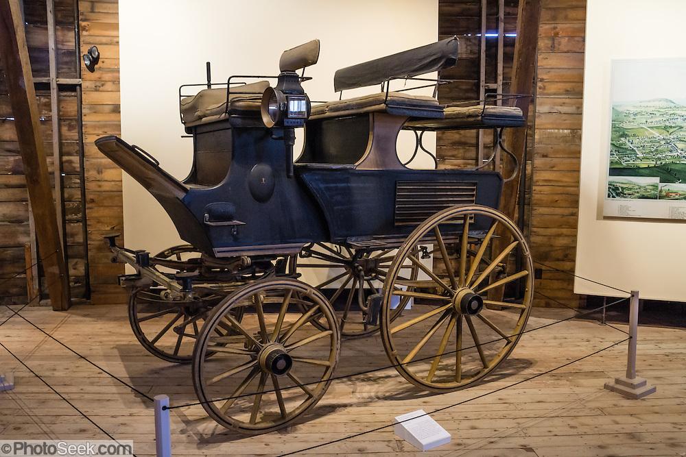 1890 Horse-drawn Roof-seat Break. Shelburne Museum, Near