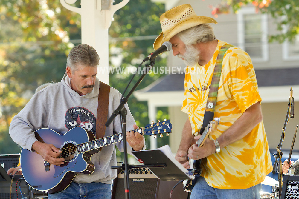 "Pine Bush, New York  - The band ""Oxford Station"" plays at the Gazebo on Main Street during the Orange County Open Studio Arts Tour on Oct. 13, 2013. The performance was also sponsored by the Pine Bush Area Arts Council."