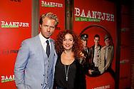 AMSTERDAM - In de DeLaMar theater is de premiere van de musical Baantjer. Met hier op de foto  Thijs Römer met partner Katja Schuurman. FOTO LEVIN DEN BOER - PERSFOTO.NU