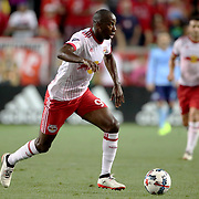 HARRISON, NEW JERSEY- AUGUST 25: Bradley Wright-Phillips #99 of New York Red Bulls in action during the New York Red Bulls Vs New York City FC MLS regular season match at Red Bull Arena, Harrison, New Jersey on August 25, 2017 in Harrison, New Jersey. (Photo by Tim Clayton/Corbis via Getty Images)
