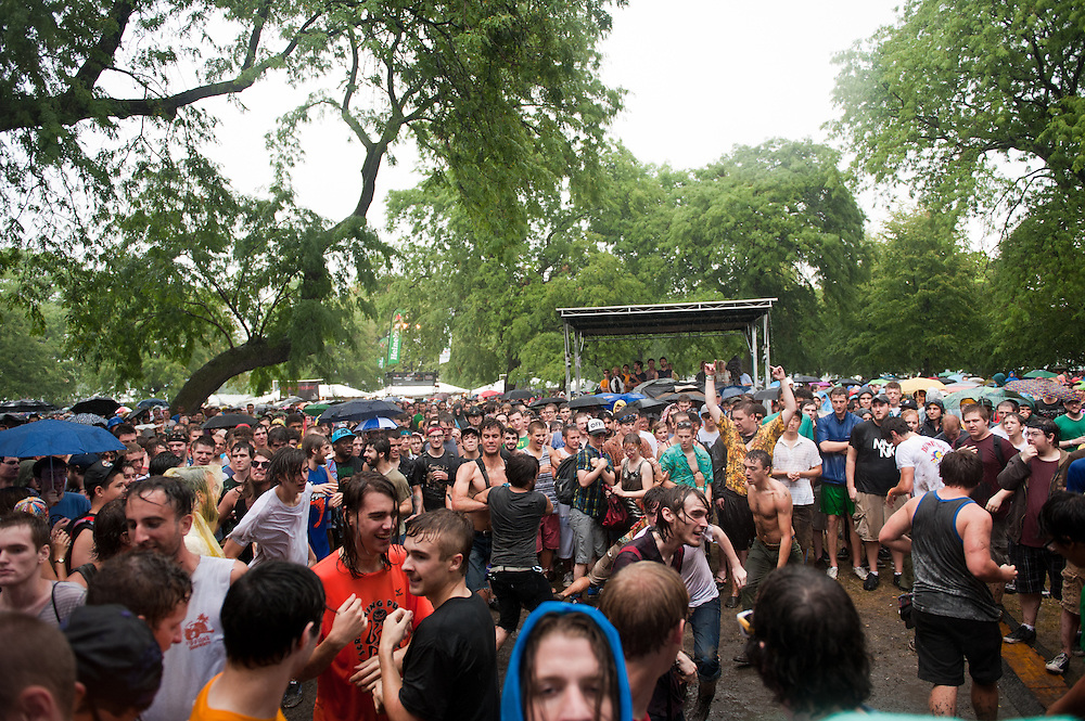 Liturgy crowd at Pitchfork Music Festival
