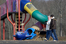 People use the amenities found at Warminster community park, located at the former Naval Air Warfare Center Warminster, on February 6, 2019. The United States Environmental Protection Agency (EPA) is expected to release updates on tests of per- and polyfuoroalkyl substances or PFAs pollution in public water supplies for 16 million Americans in 33 states, including Pennsylvania. The federal report is delayed due to January 2019 shutdown. Reps. Brian Fitzpatrick, Republican of Bucks County in Eastern Pennsylvania and Democrat Dan Kildee, of Michigan cochair a bipartisan task force in the House of Representatives, formed to take on the growing PFAS Contamination Crisis. The usage of foam at nearby former military bases is linked to tainted drinking water, affecting tens of thousands of residents in Bucks and Montgomery Counties in Eastern Pennsylvania.<br /> The United States Environmental Protection Agency (EPA) is expected to release updates on tests of per- and polyfuoroalkyl substances or PFAs pollution in public water supplies for 16 million Americans in 33 states, including Pennsylvania. The federal report is delayed due to January 2019 shutdown. Reps. Brian Fitzpatrick, Republican of Bucks County in Eastern Pennsylvania and Democrat Dan Kildee, of Michigan cochair a bipartisan task force in the House of Representatives, formed to take on the growing PFAS Contamination Crisis. The usage of foam at nearby former military bases is linked to tainted drinking water, affecting tens of thousands of residents in Bucks and Montgomery Counties in Eastern Pennsylvania.