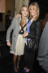 Left to right, CARA DELEVIGNE and OLIVIA BUCKINGHAM at a leaving party for Poppy Delevigne who is going to New York to persue a career as an actress, held at Chloe, Cromwell Road, London on 25th January 2007.<br />