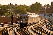 The Number 7 elevated subway in Queens, New York City.