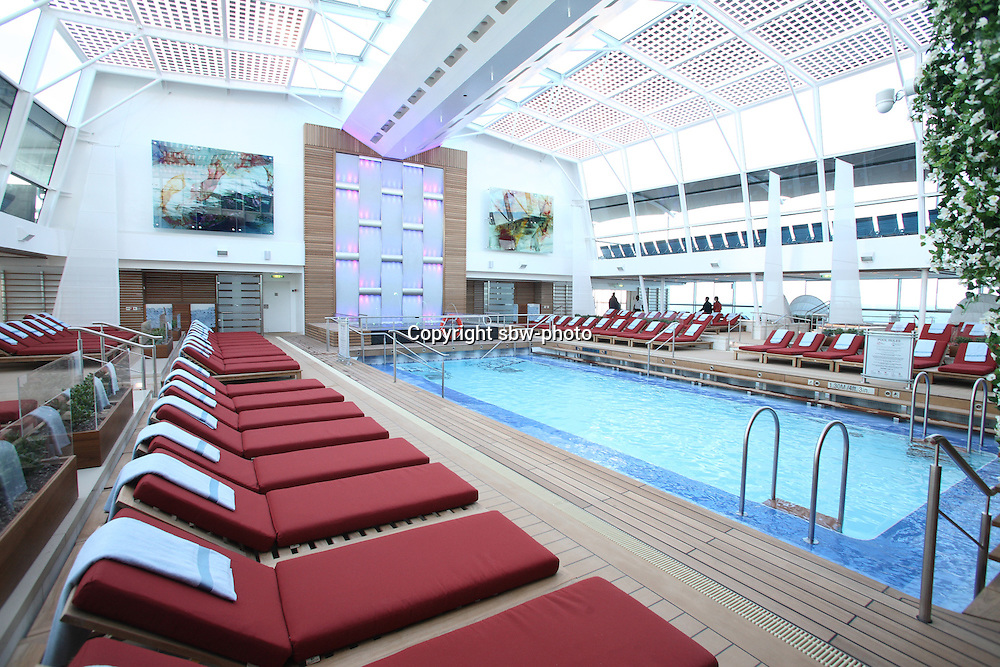 Celebrity Reflection departs on its preview sailing out of The Netherlands before beginning its European inaugural sailing on 12th October 2012 from Amsterdam..The Solarium.