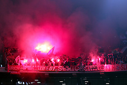 23.10.2012, Grand Stade Lille Metropole, Lille, OSC Lille vs FC Bayern Muenchen, im Bild Bayern Fans zuenden Bengalos Bengalo Pyro Fackeln // during UEFA Championsleague Match between Lille OSC and FC Bayern Munich at the Grand Stade Lille Metropole, Lille, France on 2012/10/23. EXPA Pictures © 2012, PhotoCredit: EXPA/ Eibner/ Ben Majerus..***** ATTENTION - OUT OF GER *****