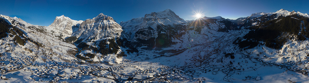 360° Luftpanorama Grindelwald Winter