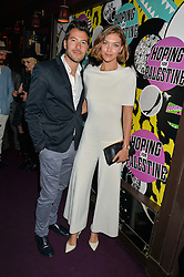 ARIZONA MUSE and BONIFACE VERNEY-CARRON at Hoping's Greatest Hits - the 10th Anniversary of The Hoping Foundation's charity benefit held at Ronnie Scott's, 47 Frith Street, Soho, London on 16th June 2016.