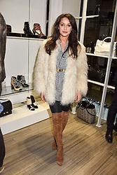 Roxie Nafousi at a party to launch Ashley Robert's new footwear range Allyn held ay Larizia, 74 St.John's Wood High Street, London England. 8 February 2017.