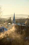 7 degrees below zero on a January morning, Brandon, Vermont.