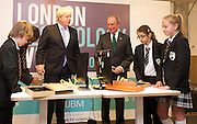 Boris Johnson and Michael R. Bloomberg kick off London Technology week<br /> at <br /> Central Working Shoreditch, 6-8 Bonhill St, London EC2A 4BX<br /> <br /> Mayor of London &amp; leaders of global tech scene come together to launch London Technology Week, in London, Great Britain <br /> 16th June 2014 <br /> <br /> Boris Johnson <br /> Mayor of London<br /> <br /> Michael R. Bloomberg <br /> ex-New York Mayor <br /> <br /> <br /> Children from Holloway Secondary School <br /> Hilldrop Road, London N7 0JG<br /> <br /> Mohammed Abdinoor<br /> Ryan Sullivan <br /> Aleyna Ekinci<br /> Kelsey Ward <br /> <br /> who were demonstrating how to put together a KANO - a computer anyone, anywhere, can make. <br /> www.kano.me