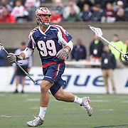 Paul Rabil #99 of the Boston Cannons controls the ball during the game at Harvard Stadium on April 27, 2014 in Boston, Massachusetts. (Photo by Elan Kawesch)