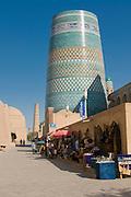 Tower, minarett of Ichon-Qala Fortress, Khiva, Uzbekistan