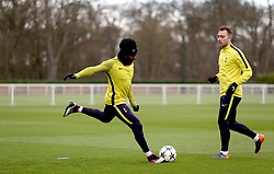 Tottenham Hotspur's Danny Rose during the training session at Tottenham Hotspur Football Club Training Ground, London.
