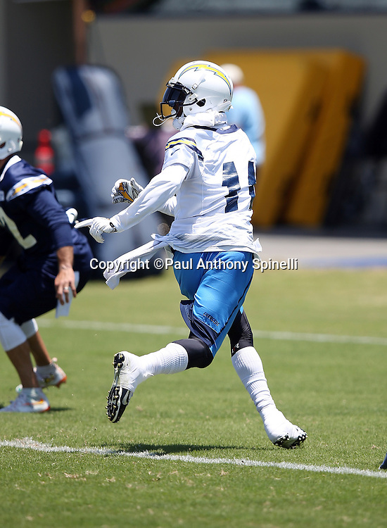 San Diego Chargers wide receiver Stevie Johnson (11) goes out for a pass during the San Diego Chargers Spring 2015 NFL minicamp practice held on Tuesday, June 16, 2015 in San Diego. (©Paul Anthony Spinelli)