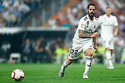 Real Madrid's Spanish midfielder Isco passes the ball during the Spanish championship Liga football match between Real Madrid CF and Leganes on September 1, 2018 at Santiago Bernabeu stadium in Madrid, Spain - Photo Benjamin Cremel / ProSportsImages / DPPI