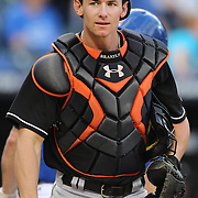 Miami Marlins catcher Rob Brantly during the New York Mets V Miami Marlins, Major League Baseball game which went for 20 innings and lasted 6 hours and 25 minutes. The Marlins won the match 2-1. Citi Field, Queens, New York. 8th June 2013. Photo Tim Clayton