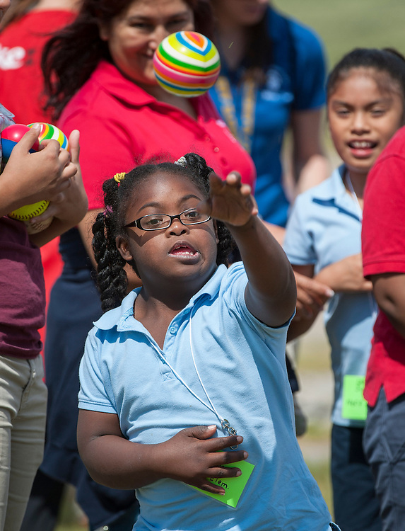 Houston ISD elementary school students and staff participate in the Special Olympics Texas Field Day at Barnett Stadium, May 1, 2014.