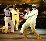 Porgy &amp; Bess<br /> by George Gershwin, Ira Gershwin, DuBose &amp; Dorothy Heyward <br /> at Regent's Park Open Air Theatre, London, great Britain <br /> 21st July 2014 <br /> press photocall<br /> <br /> <br /> <br /> Rufus Bonds Jr as Porgy <br /> Nicola Hughes as Bess<br /> <br /> <br /> Photograph by Elliott Franks