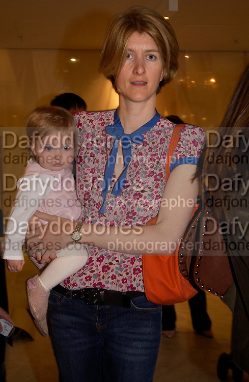 Miranda Rock and Jemima  Rock. Launch of 'Lucy  Sykes Baby, New York' Selfridges. 14 April 2005. ONE TIME USE ONLY - DO NOT ARCHIVE  © Copyright Photograph by Dafydd Jones 66 Stockwell Park Rd. London SW9 0DA Tel 020 7733 0108 www.dafjones.com