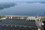 Tillery Dam, Power Plant  and Lake on Pee Dee (Yadkin) River, NC