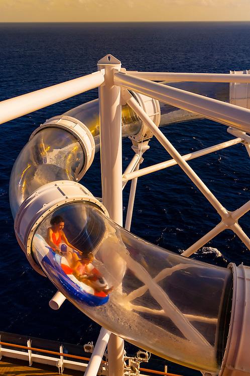 AquaDuck (water coaster) on the new Disney Dream cruise ship, Disney Cruise Line, sailing between Florida and the Bahamas