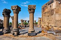 Armenie, cathedrale de Zvartnots, classé au patrimoine mondial de l'Unesco // Armenia, Zvartnots Cathedral, UNESCO World Heritage